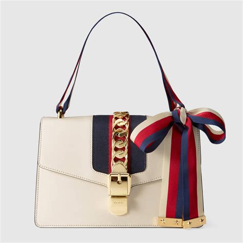 gucci bag sylvie leather shoulder bag gucci handbags 421882cvleg8605