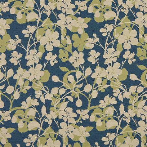 beige blue lime green floral indoor outdoor