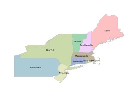 map usa northeast region northeast region gallery