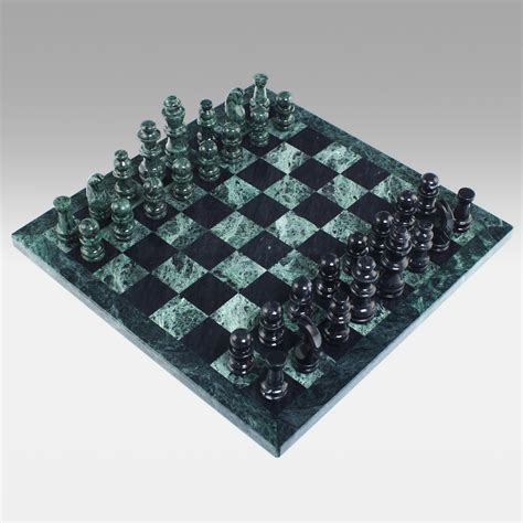 marble chess set black and green marble chess set chess sets at hayneedle