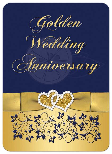gold wedding cards templates golden wedding anniversary invitation golden wedding