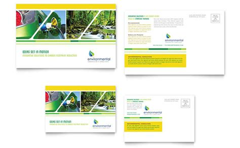 postcard design template environmental conservation postcard template design