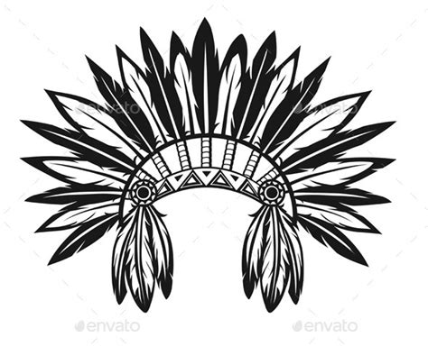 headdress template indian headdress graphicriver