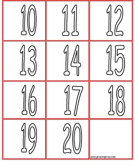 printable coloring pages numbers 1 20 free coloring pages of number 11 20