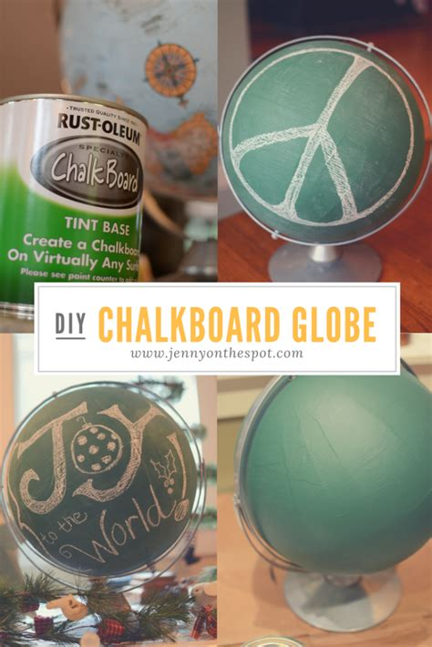chalkboard paint globe 20 creative ways to use chalkboard paint on the