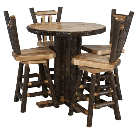 Log Pub Table And Stools by Pub Tables Rustic Log Furniture Of Utah