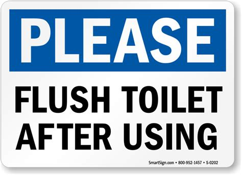 bathroom clean up signs please keep toilet clean sign