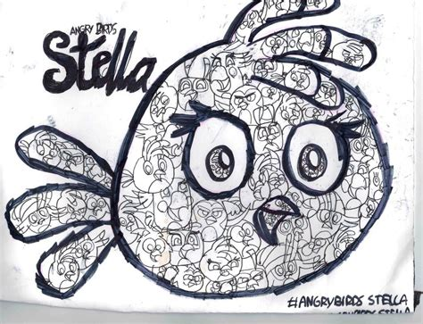 coloring pages angry birds stella angry birds stella stella coloring page by
