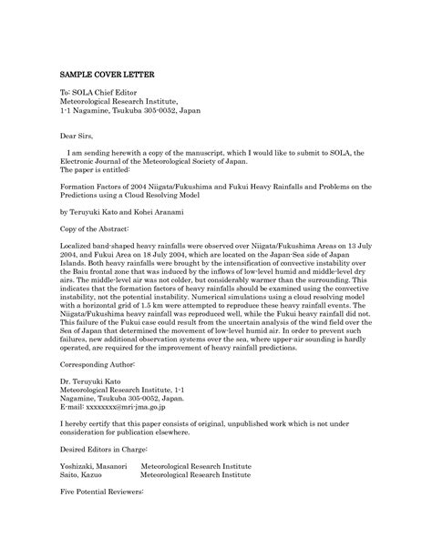 Letter To Journal Editor | Letters – Free Sample Letters