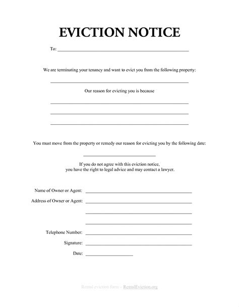 Eviction Notice Letter Exle Mughals Eviction Notice Letter Template