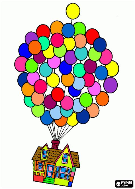 color up up house coloring pages