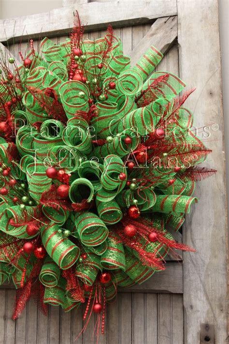 how to add mesh garland christmas tree deco mesh wreaths madinbelgrade