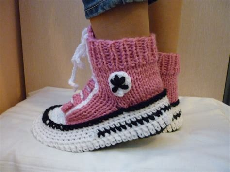 converse knitted slippers crochet pattern converse slippers knitted pattern slippers
