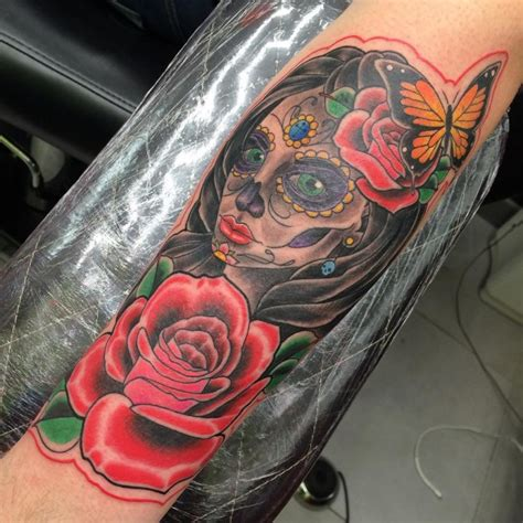 70 eye catching day of the dead tattoos faces skulls