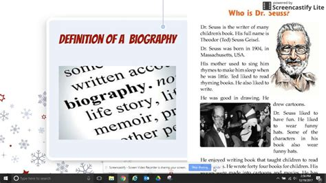 biography vs autobiography definition biography definition youtube