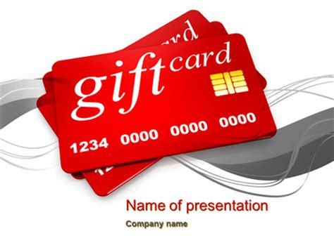 gift card ppt template gift card powerpoint template backgrounds 10641