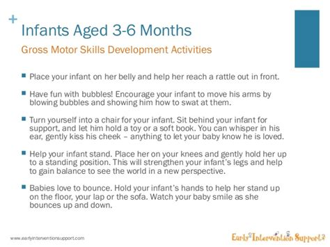 4 month motor skills gross motor skills development for infants