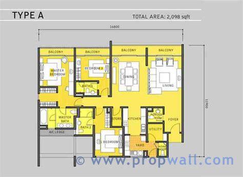 Dua Residency Floor Plan | dua residency for rent in klcc propwall