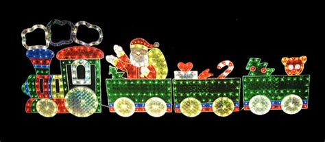 holographic train with blinking light motion holographic christmas train christmas decore