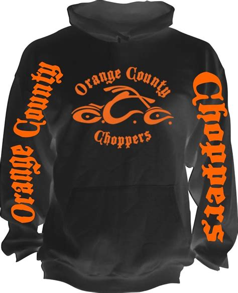 Hoodie Choppers 4 Jidnie Clothing new retro american biker orange county choppers motorcycle occ hoodie s 5xl ebay