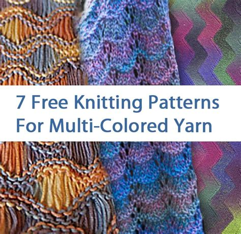 scarf pattern variegated yarn 166 best images about patterns for variegated yarns on