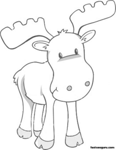 printable coloring page moose for kids craft ideas