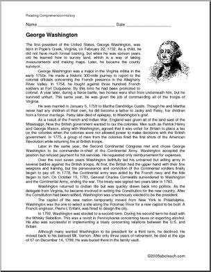 new biography george washington george washington biography good for lapbook or notebook