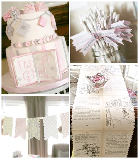 vintage baby shower ideas kara s ideas vintage book themed baby shower