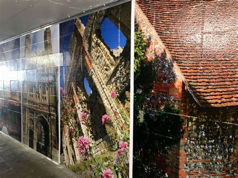 canterbury underpass brightened   mural  tackle