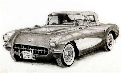 vintage corvette drawing 1957 chevrolet corvette c1 by classic motors on deviantart