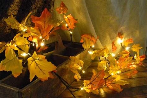 lighted fall maple leaf garland 6 ft battery op timer