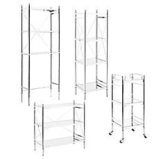 chrome bathroom shelving unit empire bathroom shelving unit in chrome bed bath beyond