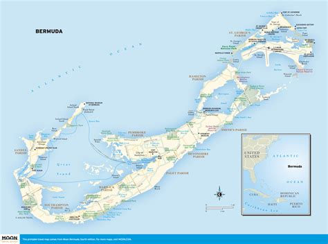 bermuda island map printable travel maps of bermuda moon travel guides