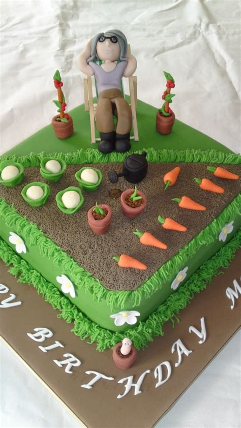 garden themed cake decorations 25 best ideas about allotment cake on
