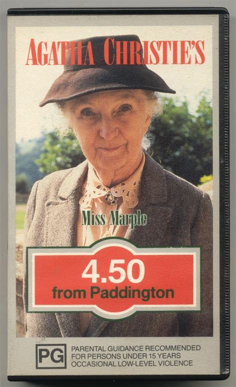 libro 4 50 from paddington miss agatha christie s miss marple 4 50 from paddington bbc vhs video