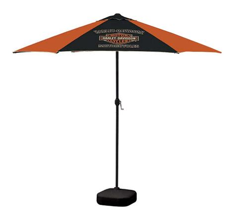 Orange Patio Umbrella Harley Davidson Bar Shield Patio Umbrella 8ft Pole Orange Black Umb302646 Ebay