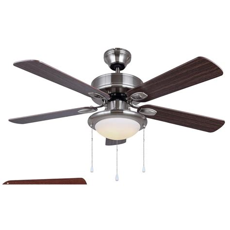 brushed nickel outdoor ceiling fan with light home decorators collection pendersen 42 in led indoor