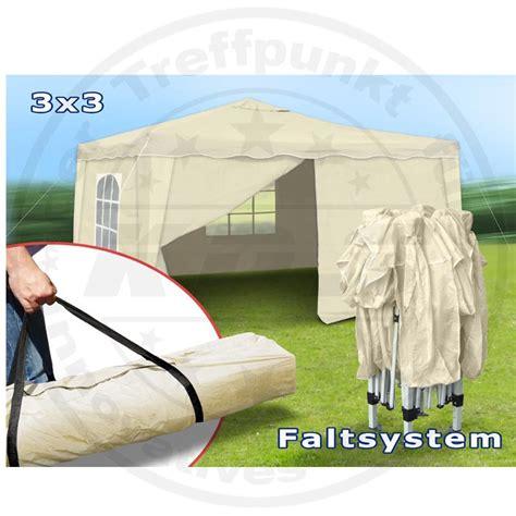 Faltpavillon 3x3 Wasserdicht by Faltpavillon 3x3 Seitenteile Metall Garten Pavillon Beige