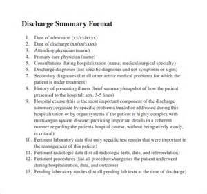 sample discharge summary 10 documents in pdf word