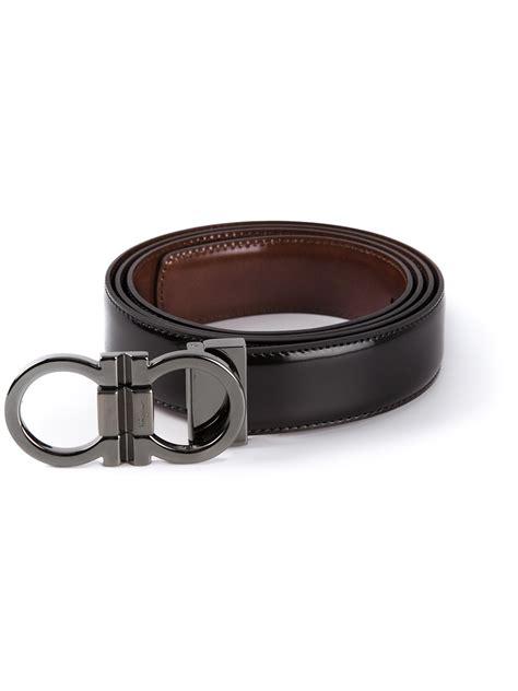 Salvatore Feragamo Belt Sf 302 Silver Black ferragamo logo buckle belt in black lyst