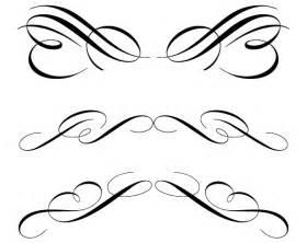 free calligraphic ornament clip art 123freevectors