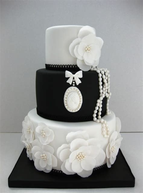 Black And White Wedding Cakes by Southern Blue Celebrations Black White Wedding Cake Ideas
