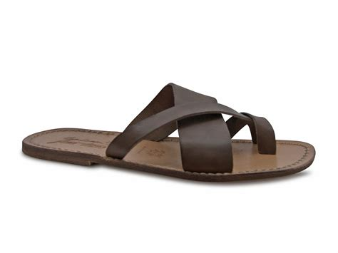 Handmade Italian Sandals - handmade real leather thongs sandals for mens made in