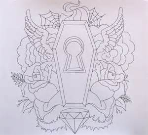 coffin tattoos tattoo design and ideas