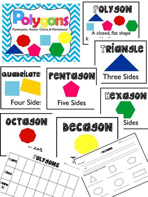 Printable Polygon Poster | polygons powerpoint anchor charts worksheets poster