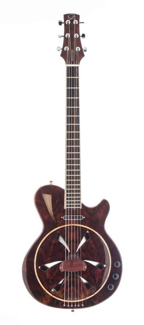Handmade Resonator Guitars - made the mermaid biscuit bridge electric resonator