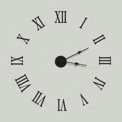 Wall Clock Stickers wall clock decal kit vinyl wall clock roman numeral by