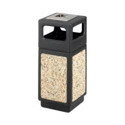 Patio Trash Cans Outdoor by Safco Canmeleon Durable Stone Outdoor Trash Cans Abc Office