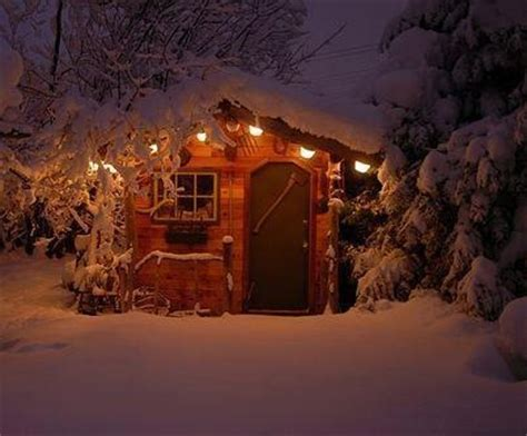 Snowy Cabin In The Woods by Cabin In The Snowy Woods Makes Me