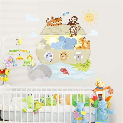 noah ark wall stickers noah s ark animals printed wall decals stickers graphics
